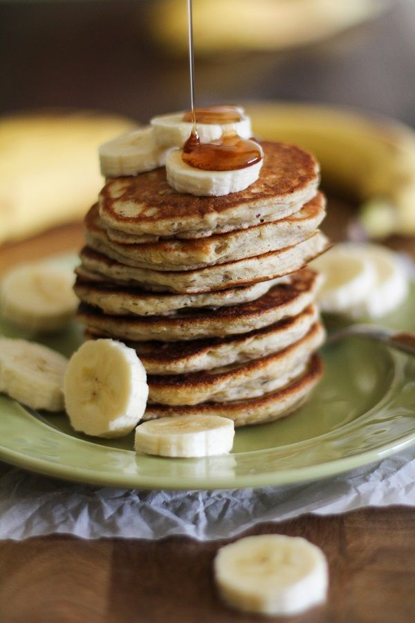 Gluten-Free Banana Silver Dollar Pancakes (and they're vegan, too!) @Oh My Veggies