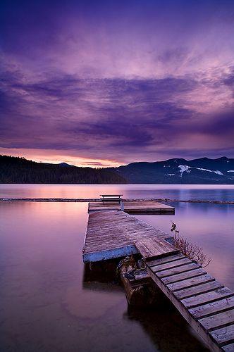 Dusk on Lake Cowichan