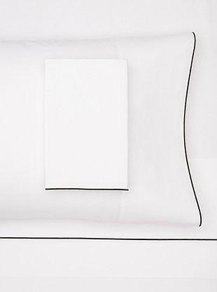 66% OFF Bella Letto Milo Sheet Set (White/Black)