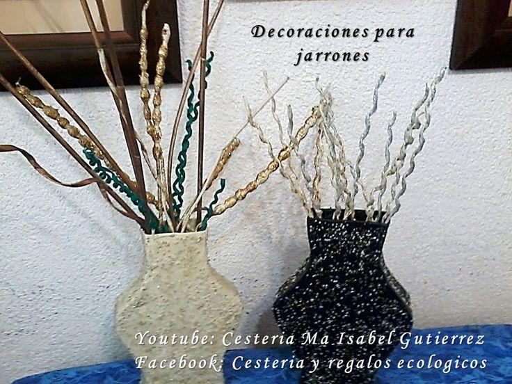 ADORNOS PARA JARRONES. DIY. Decorations for vases                              …