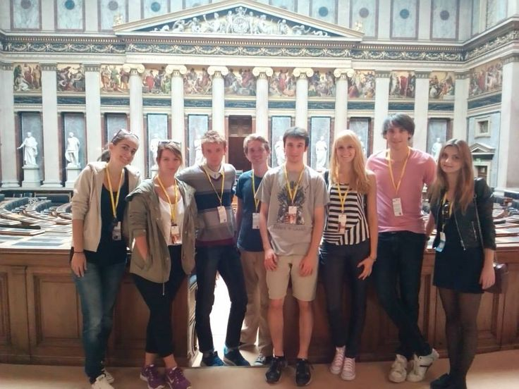 Austrian Parliament Building, Vienna - Austria: Mariza was an intern in Vienna in autumn 2014. Here is a photo from the Austrian Parliament with the other IAESTE interns :)