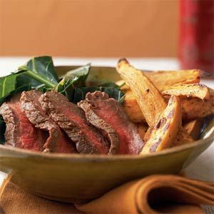 Less that 250 calories. Perfect for fasting days on the 5:2 Diet Cumin-Coriander Sirloin Steak | MyRecipes.com