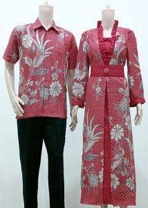 Contoh Desain Baju Muslim Batik Terbaru 2016