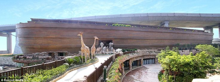 At least they'll never be flooded! Billionaire brothers build 450ft long life-size replica of Noah's Ark