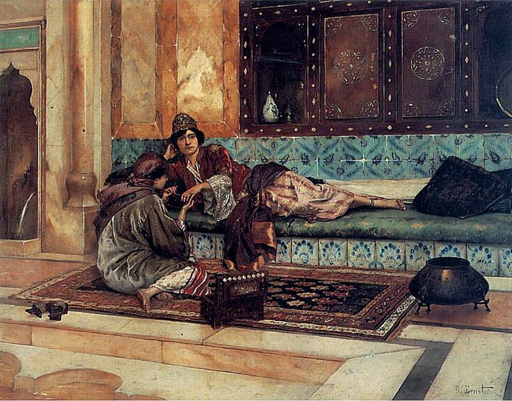 Rudolf Ernst, The Manicure, date unknown, Oil on panel, 82,5 x 64 cm, Private Collection