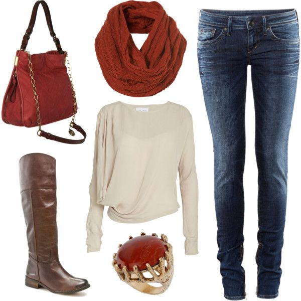 """Neutral and Rust"" by laura-meiers on Polyvore"