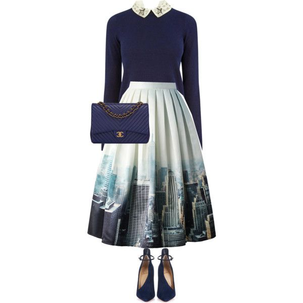 A fashion look from September 2015 featuring Oasis sweaters, Chicwish skirts and Christian Louboutin pumps. Browse and shop related looks.