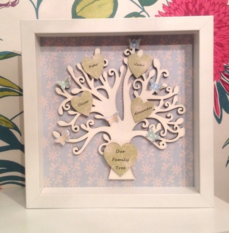 Wooden personalised family tree - The Supermums Craft Fair