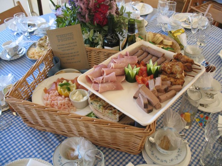picnic hamper instead of the standard three courses