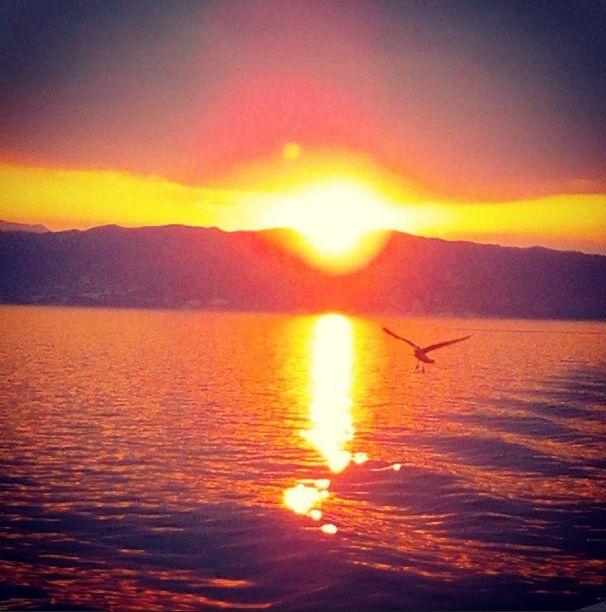 Goodnight sun!! #Thassos #Greece #goodnight #summer #sun #boat #travel