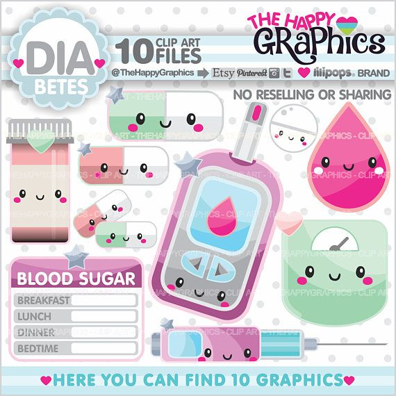 Diabetes Clipart Diabetes Graphics Commercial Use Etsy In 2021 Diabetes In Children Diabetes Clip Art
