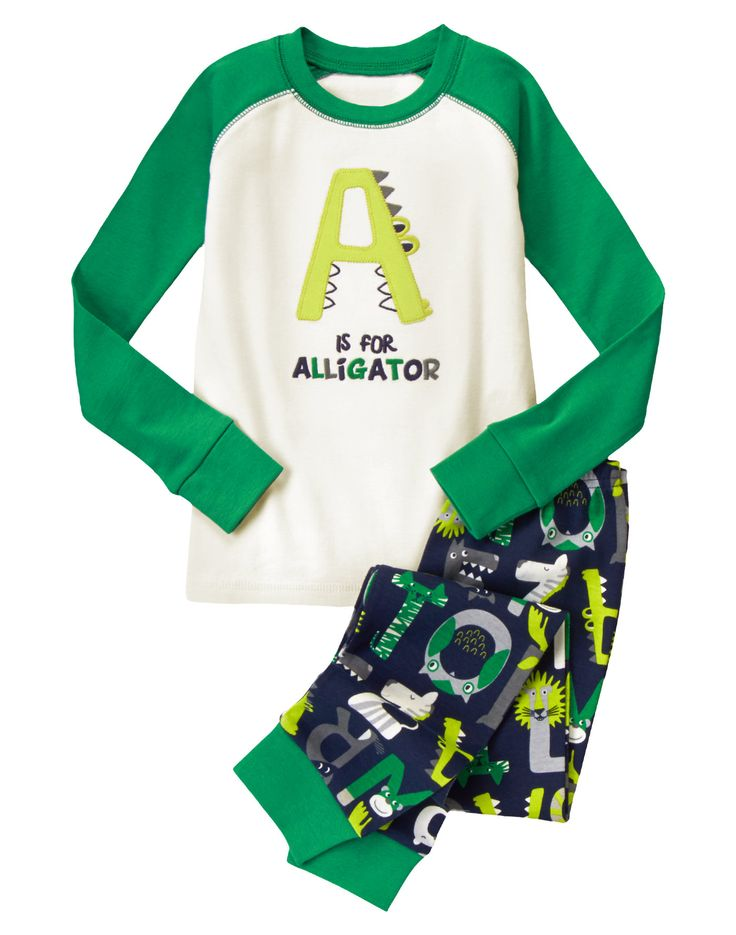 A Is For Alligator Two-Piece Gymmies® at Gymboree (Gymboree 4-10y)