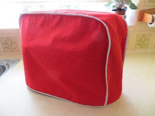 Kenwood Chef cover in Red cotton Handmade. £24.99