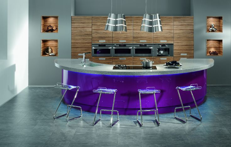 Kitchen : Interior Ideas Fascinating Luxury Home Bar Designs By Purple Half Bar Table With Gray Top Combined With Modern Luxurious Bar Stool On The Gray Floor Feat Nice Wooden Wall Also Silver Pendant Lamps Ast Astounding Luxury Kitchen Designers Kitchen Design Software. Kitchen Design. Virtual Kitchen Designer.