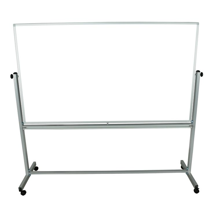 Offex Wholesale Double-sided Silver Frame 72 in. W x 40 in. H Adjustable Magnetic board Easel