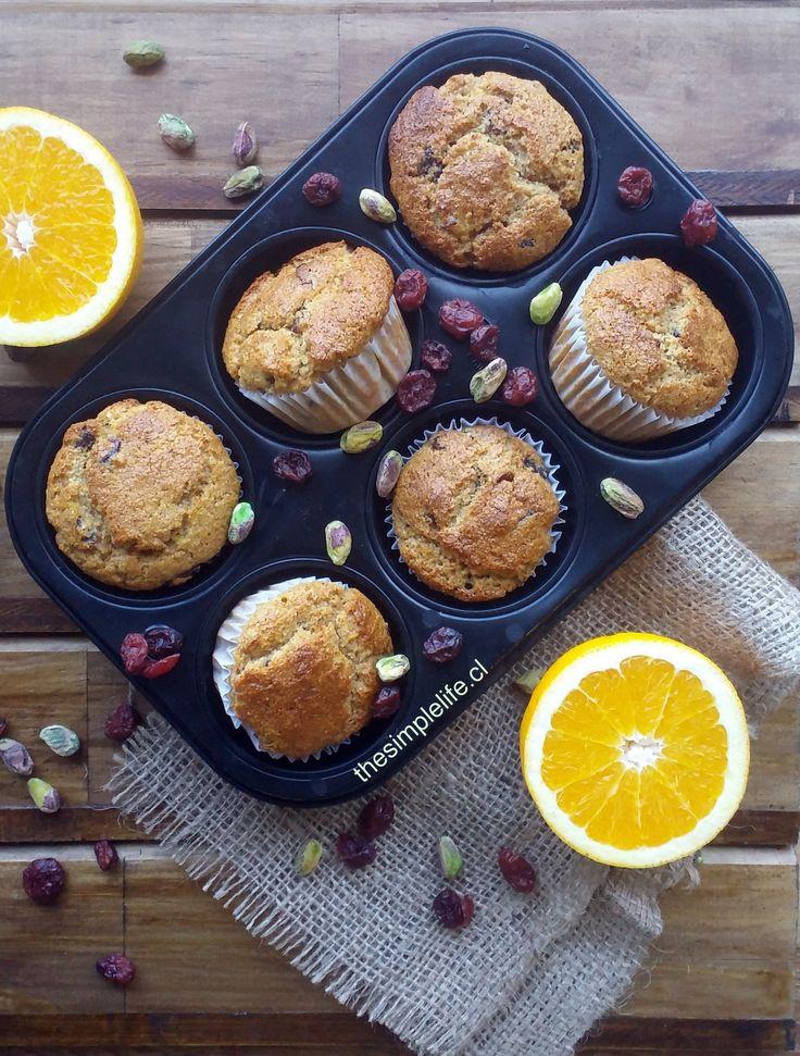 Los Mejores Muffins de Naranja y Cranberry (Sin Azúcar). | The Simple Life