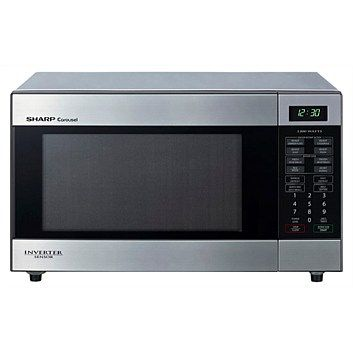 Microwave Ovens - Briscoes - SHARP R395YS Midsize Stainless Steel Microwave