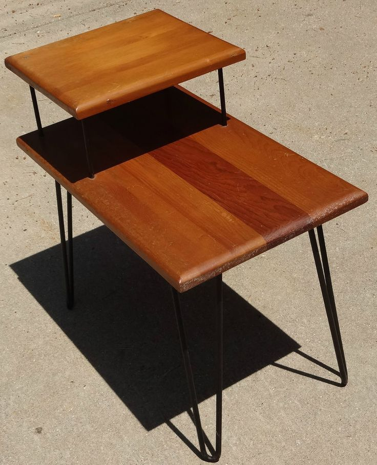 61 best images about hairpin legs on pinterest for Vintage hairpin table legs