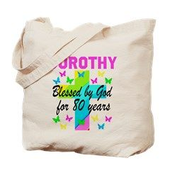 80TH CHRISTIAN Tote Bag Spiritual and uplifting 80th birthday T Shirts and gifts for the faith filled 80 year old. http://www.cafepress.com/heavenlyblessings/12705793 #80yearsold #Happy80thbirthday #80thbirthdaygift #Christian80th #happy80th #Personalized80th #80thprayer