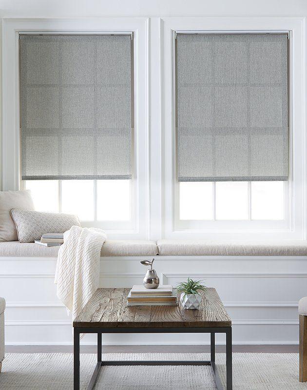 semi sheer gray roller shade window treatments in 2019 roller rh pinterest com