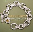 Judith Ripka Citrine Toggle Heart Charm Bracelet Sterling Silver - bracelet, Charm, Citrine, Heart, Judith, Ripka, silver, Sterling, Toggle - http://designerjewelrygalleria.com/judith-ripka/judith-ripka-bracelets/judith-ripka-citrine-toggle-heart-charm-bracelet-sterling-silver/