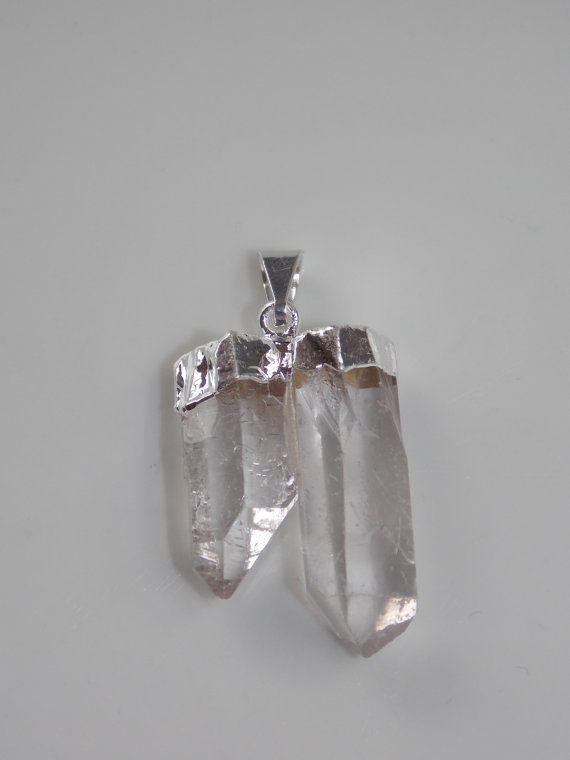 Petite Double Point Crystal Quartz Pendant by CallaBeadSupplies, $11.95