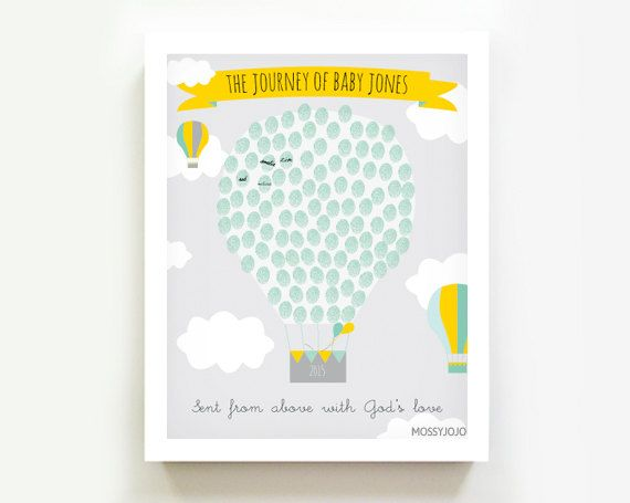 Empreinte numérique le livre d'or Hot Air Balloon par MossyJojo