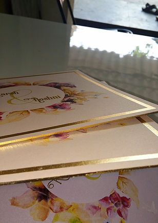 Check out http://edgegilding.in!  <html>We Provide edge gilding or foiling services on business card and wedding card inserts.</html>