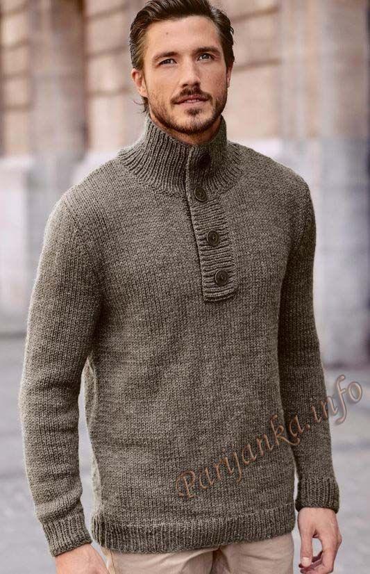 Пуловер (м) 08*183 Bergere de France №4743