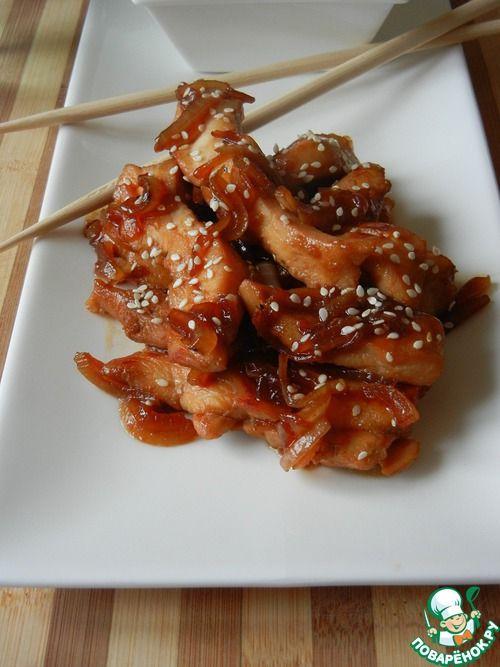 Куриная грудка в соусе терияки - кулинарный рецепт