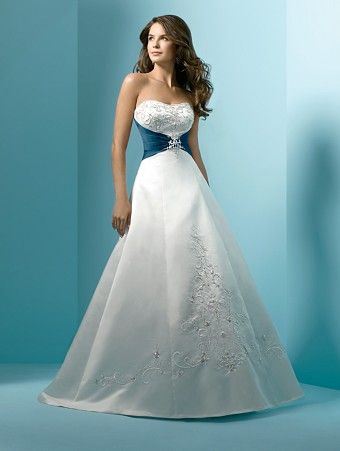 From: http://wedding-splendor.com/wedding-gowns-with-color-accents/# I find this actually quite beautiful and wonderful