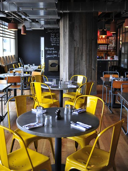 Jamie's Italian - Birmingham  Great for us, yellow and grey like it together.