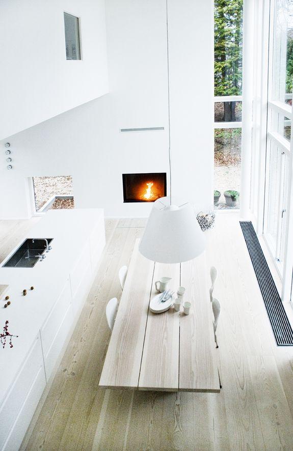 25 beste idee n over planken tafel op pinterest - Decoreren van een gang ...