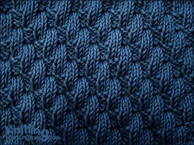 """Muster """"Left Diagonal"""" - bestehend nur aus rechten und linken Maschen. Gefunden auf knittingstitchpatterns.com"""