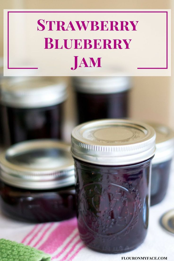Strawberry Blueberry Jam recipe is one of my favorite flavors of homemade jam. Mixed berry jam has a delicious flavor and takes great on vanilla ice cream.