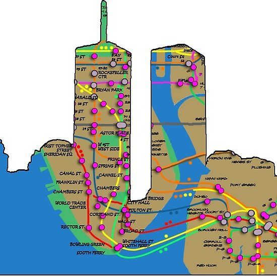 Subway Map Wall Art Wall Art Stickers Wall Decal Huge Underground Tube Map.Nyc Always Remember 9 11 And The Twin Towers Nyc Subway Map