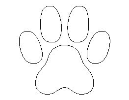 Cat Paw Print Pattern