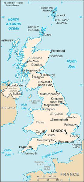 United Kingdom Political Map #unitedkingdom