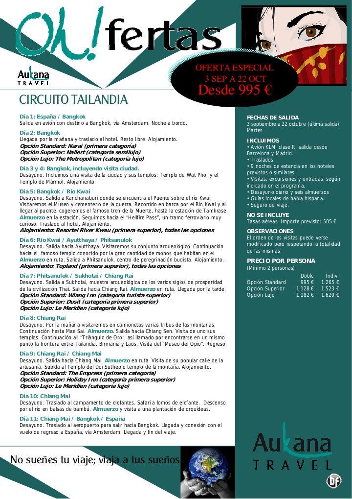 Circuito Tailandia, septiembre y octubre, 11 días desde 995 € - http://zocotours.com/circuito-tailandia-septiembre-y-octubre-11-dias-desde-995-e/