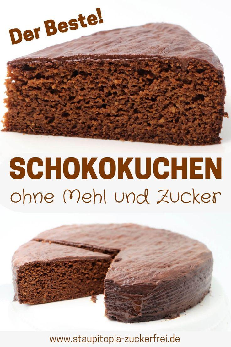 Schokokuchen Ohne Zucker Und Mehl Rezept Schokokuchen Ohne Zucker Schokokuchen Low Carb Schokokuchen
