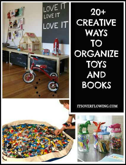 20 creative ways to organize toys and books including great ideas rh pinterest com