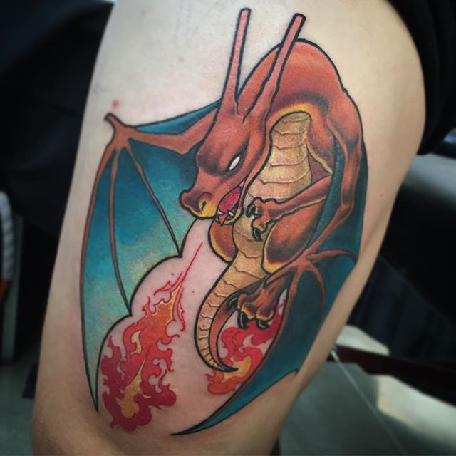 Pokemon tattoo by Taylor Heald