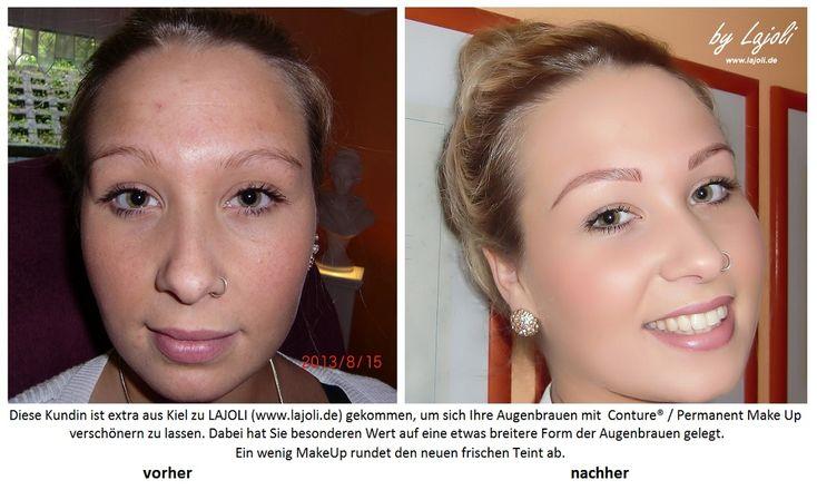 Vorher - Nacher #Bilder  #Augenbrauen - #Permanent #MakeUp