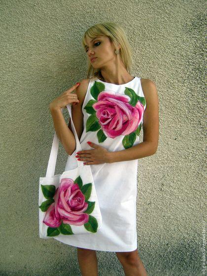 Платья ручной работы. Ярмарка Мастеров - ручная работа Волшебная роза. Комплект из льна. Handmade.