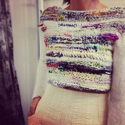 Balmaseda -  why not make use of all your leftover yarn to knit something like this!