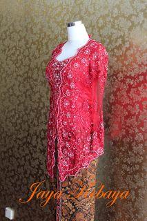 simple kebaya modern dress red.