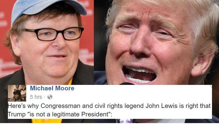 """Michael Moore Just Told Trump The Top 6 Reasons Why He's An """"Illegitimate"""" President"""