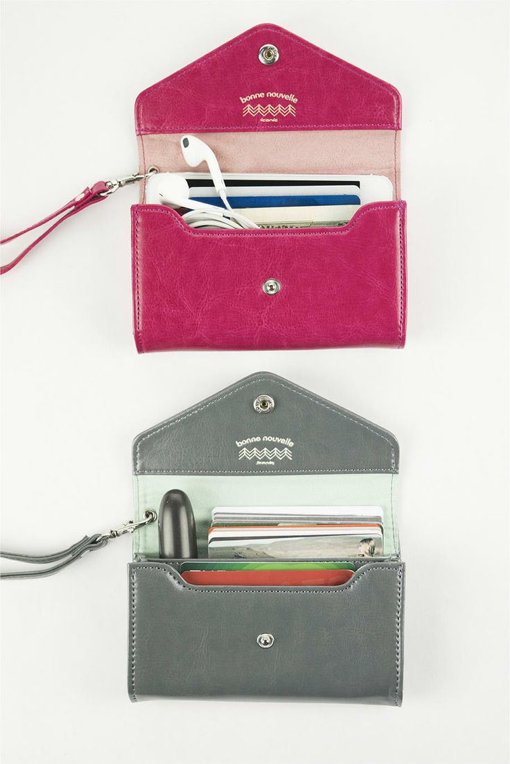 The *Bonne Nouvelle Leather Card Wallet* is a beautiful and functional card wallet! The Bonne Nouvelle Leather Card Wallet contains two big compartments for you to use. Those compartments can be used to hold your cards, smartphone (up to an iPhone...