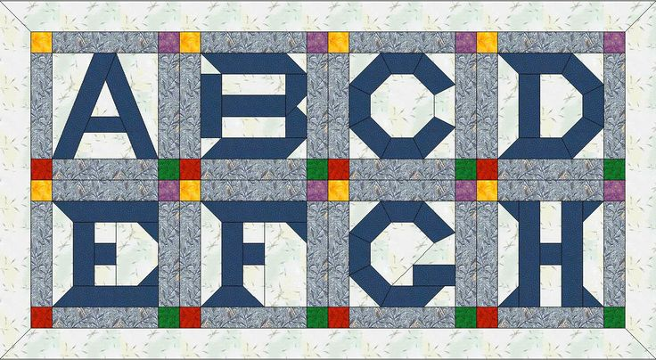 Free Pieced Baby Quilt Patterns : Free+Stained+Glass+Alphabet+Letters Free Paper Pieced Quilt Patterns DIY obsession ...