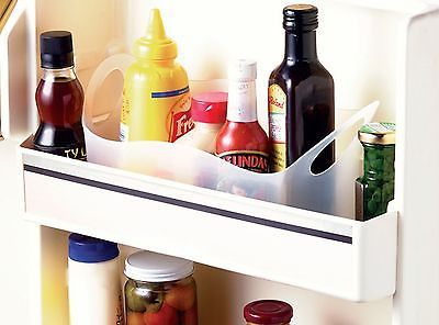 Refrigerator Fridge Condiment Bottle Organizer and Carrying Caddy for BBQ Picnic